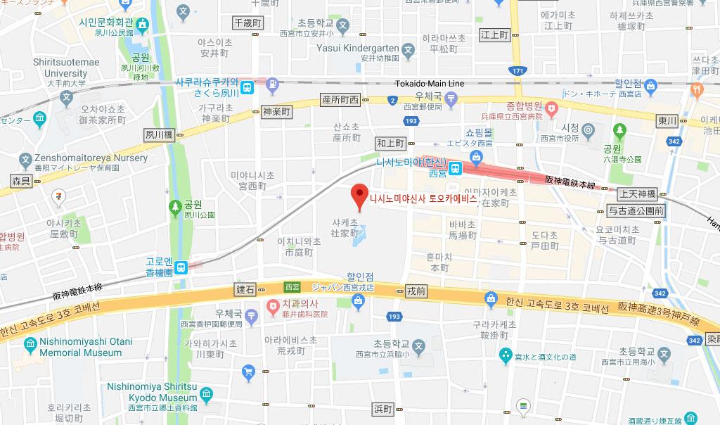 西宮神社map